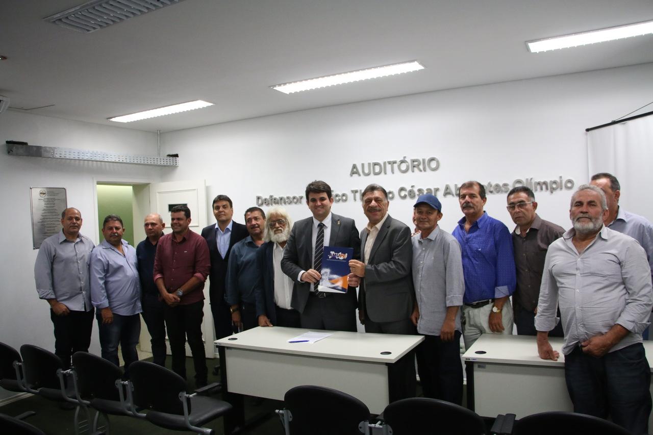 Reunião com a superintendência do Banco do Brasil, Ministério Público e Defensoria Pública