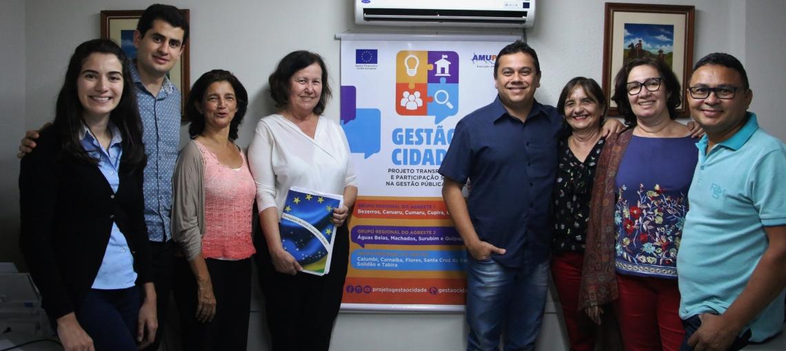 Amupe e Projeto Gestão Cidadã recebem Comissão Gestora da União Europeia