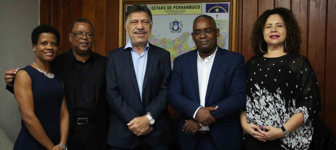 José Patriota recebe a missão de Cabo Verde e firma protocolo de intenções entre as partes