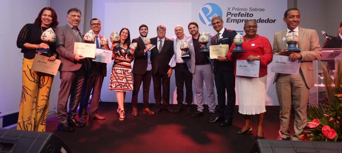Sebrae premia gestões municipais empreendedoras