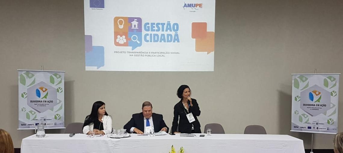 Ouvidoria em Ação: Projeto Gestão Cidadã foi tema de debate