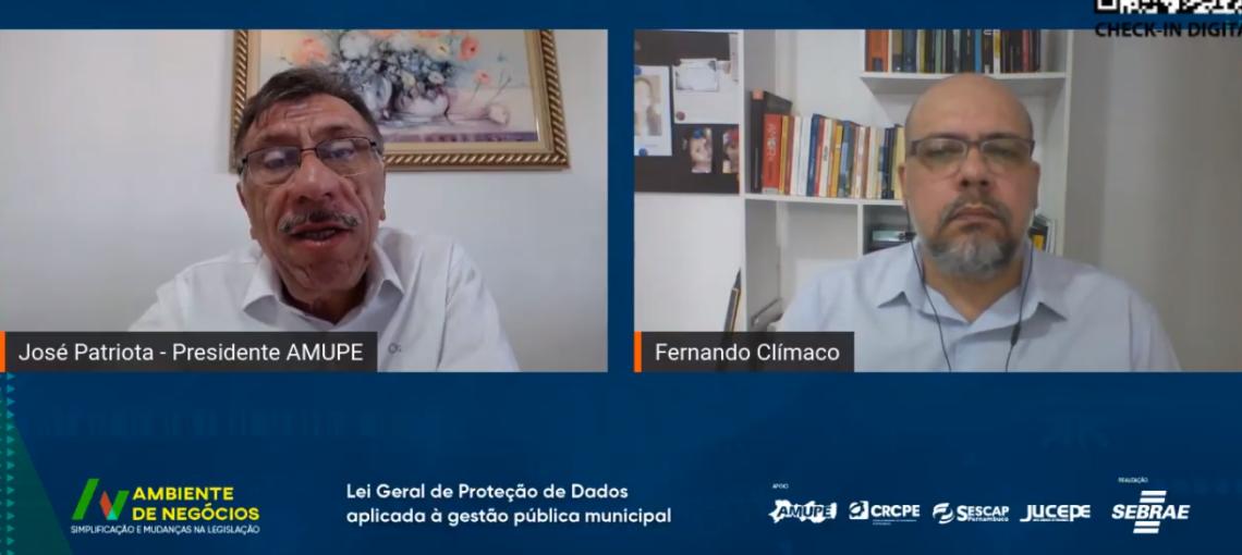 """""""Precisamos retomar essa discussão"""", diz Patriota sobre implantação da LGDP nos municípios"""