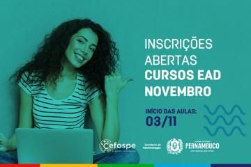 Cefospe lança novos cursos a distância no mês de novembro