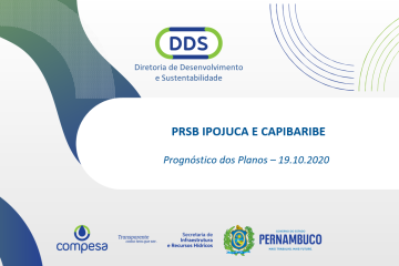 Compesa Divulga Prognóstico dos Planos PRSB Ipojuca e Capibaribe – 19.10.2020, confira
