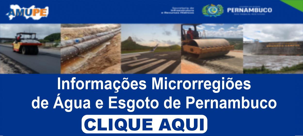 Microrregiões de Água e Esgoto do Sertão e da RMR Pajeú – Legislação